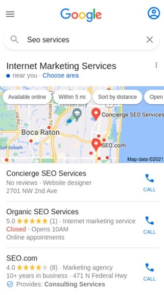 we recommend you to check their Google My Business profile and their reviews