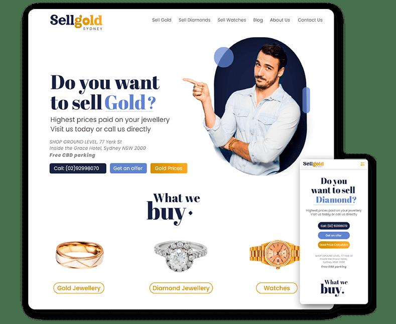 Website design Sell Gold Sydney