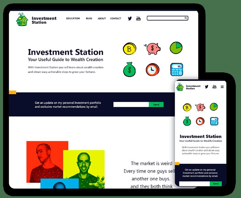 Website design Investment Station