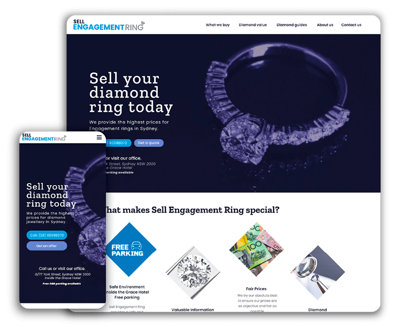Website design Sell engagement ring